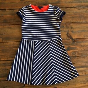 Tommy Hilfiger Navy Blue striped dress
